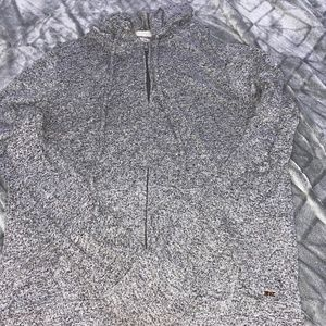 VS PINK grey cozy zip up hoodie